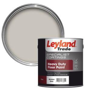 Leyland Trade Heavy Duty Nimbus Grey Satin Floor & Tile Paint2.5L