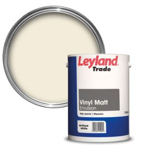 Image of Leyland Trade Antique white Matt Emulsion paint 5L