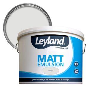 Image of Leyland Subtle grey Matt Emulsion paint 10L