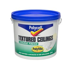 Image of Polycell Coarse White Matt Special effect paint 5L