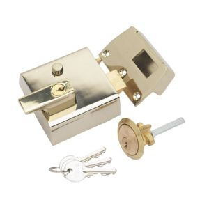 View Yale 60mm Brass Effect Night Latch P-1-BLX-PB-60 details