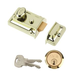 View Yale 60mm Brass Effect Night Latch P-77-BLX-PB-60 details