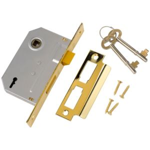 View Yale 64mm Brass Effect 2 Lever Mortice Sashlock details