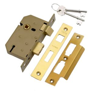 View Yale Brass Effect 3 Lever Mortice Sashlock (H)155mm (W)22mm (L)65mm details