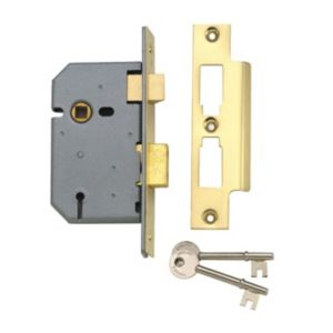 View Yale 76mm Brass Effect 3 Lever Mortice Sashlock details