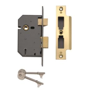 View Yale 64mm Brass Effect 5 Lever Mortice Sashlock details