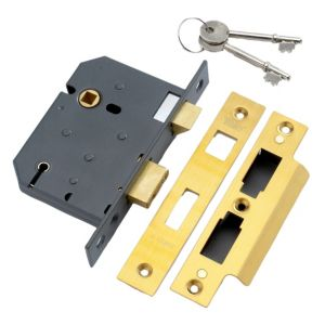 View Yale 76mm Brass Effect 5 Lever Mortice Sashlock details