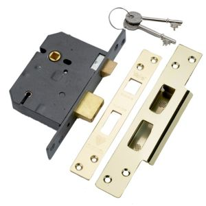 View Yale Brass Effect 5 Lever Mortice Sashlock (H)162mm (W)26mm (L)81mm details