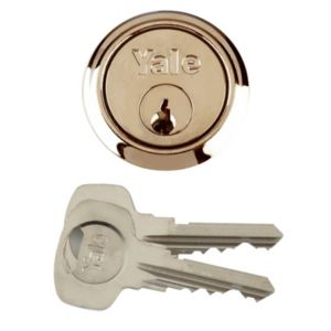 View Yale Brass Plated Rim Cylinder Lock details