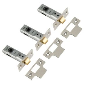 View Yale Zinc Effect Tubular Latch 64mm, Pack of 3 details