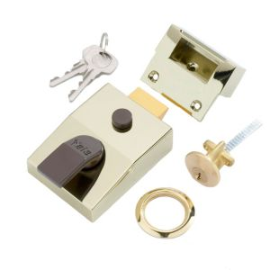 View Yale Brass Effect High Security Night Latch 60mm details