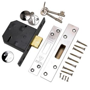 View Yale 76mm Polished Chrome 5 Lever Mortice Deadlock details