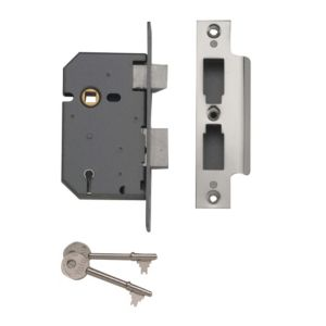 View Yale Chrome Effect 5 Lever Mortice Sashlock (H)162mm (W)26mm (L)68mm details