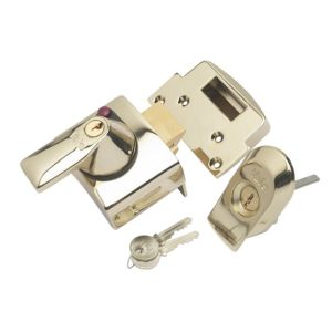 View Yale 40mm Brass Effect Night Latch P-BS2-BLX-PB-40 details