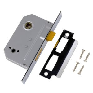 View Yale 64mm Polished Chrome 2 Lever Deadlock details