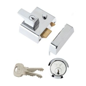 View Yale Chrome Effect High Security Night Latch 40mm details