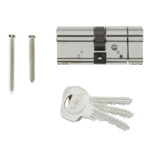 View Yale 30 / 10 / 30mm Bright Nickel Plated Euro Cylinder Lock details
