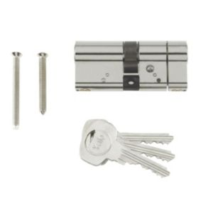 View Yale 80mm Nickel Plated Euro Cylinder Lock details