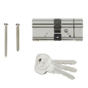 View Yale 29mm Bright Nickel Effect Euro Cylinder Lock details