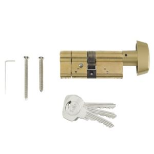 View Yale 35 / 10 / 35mm Brass Thumbturn Euro Cylinder Lock details
