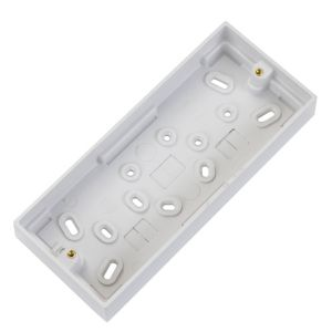 View Volex White Plastic Triple Pattress Box 26 mm details