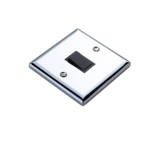 View Volex 1-Gang 2-Way 10AX Chrome Effect Single Intermediate Light Switch details