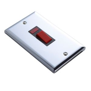 View Volex Silver 45A Switch (H)145mm (W)100mm (L)145mm details