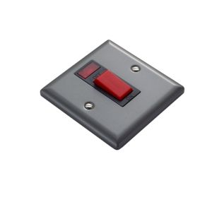 View Volex 1-Gang 45A Pewter Effect Cooker Switch details