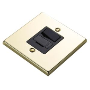 View Volex Polished Brass Switched Fused Connection Unit 13A details