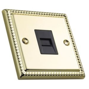 View Volex 1 Gangraised Brass Telephone Socket details