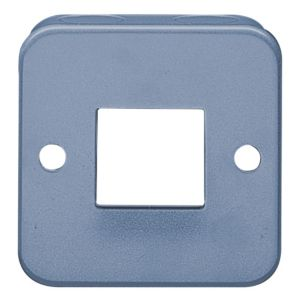 View Volex 1-Gang 2-Way 10AX Grey Metal Clad Double Switch Faceplate details
