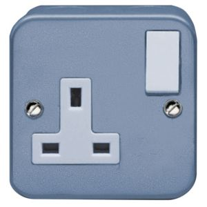 View Holder 13A 1-Gang Grey Switched Socket details