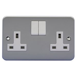 View Holder Grey Switched Single Rocker Socket details