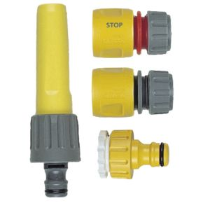 View Hozelock Yellow Plastic Hose Fitting Starter Set details