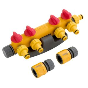 View Hozelock Grey, Red & Yellow Plastic Tap Connector details