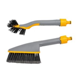 View Hozelock Grey & Yellow Plastic Car Brush Set details