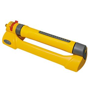View Hozelock Yellow 2-In-1 Adjustable Oscillating Sprinkler details