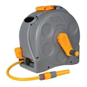 wall mounted hose reel hose l 25m hozelock 2 in 1 wall mounted hose
