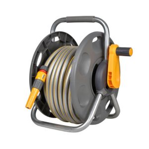 Hozelock 2 In 1 Freestanding Hose Reel & Hose (L)25m