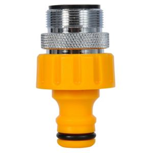 View Hozelock Yellow Plastic Threaded Tap Connector details