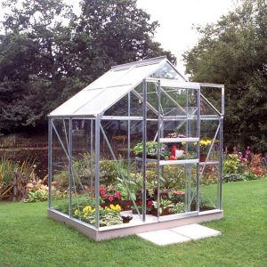 Image of B&Q Metal 6x4 Horticultural glass greenhouse