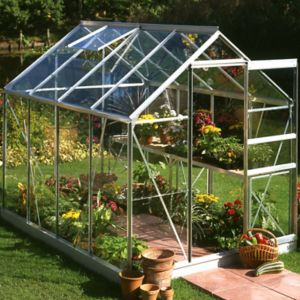 Image of B&Q Metal 6x8 Horticultural glass greenhouse