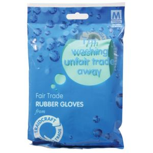 View Traidcloth Light Blue Plastic Gloves Pack of 1 details