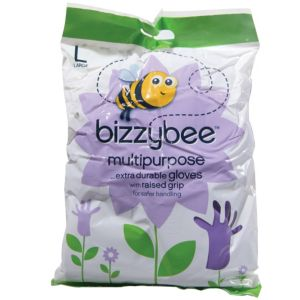 View Bizzybee Purple Plastic Gloves, Pack of 1 details