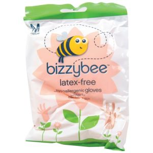 View Bizzybee Pink Plastic Gloves, Pack of 1 details