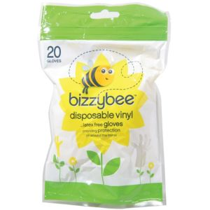 View Bizzybee Yellow Plastic Gloves Pack of 20 details