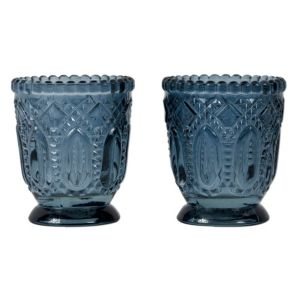 View Cut Glass Tealight Candle Holder, Set of 2 details