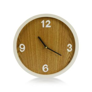 View Contemporary White Round Wall Clock details