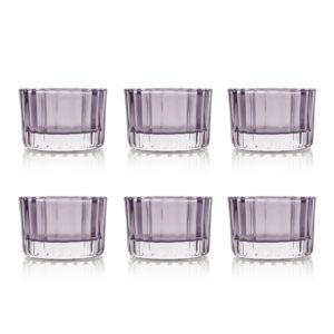 View Ridged Tealight Candle Holder Of 6 details
