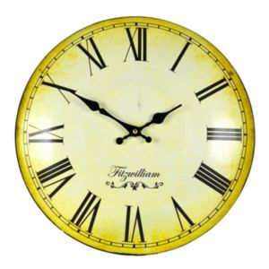 View Fitzwilliam Matt Black & Yellow Round Wall Clock details
